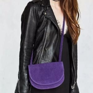 ⚡️Sale⚡️Violet Crossbody Leather Suede Bag by UO